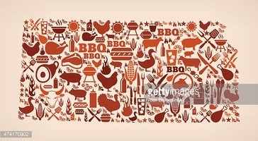Kansas state summer barbecue invitation vector background stock kansas state summer barbecue invitation vector background stopboris Images
