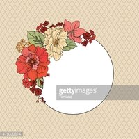 Floral background. Flourish border with copy space.