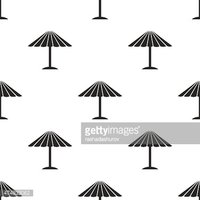 parasol, vector seamless pattern