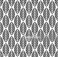 black and white seamless pattern with leaf