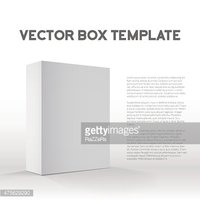 Realistic Vector Blank White Packaging Box Template for cellphon