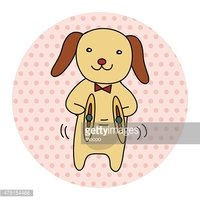 animal dog playing instrument cartoon theme elements