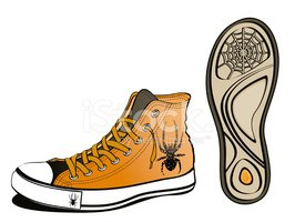 Sole Of Shoe,Shoe,Spider,Bl...