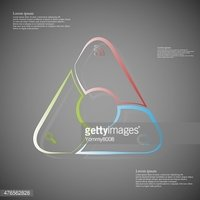 Triangle infographic consits of lines on dark