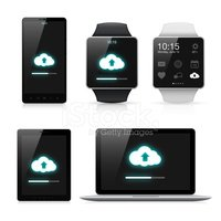 Synchronizing data between Smart watch, Smartphone, Tablet pc and Laptop
