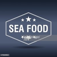 Old,Food,Sign,Seafood,Label...