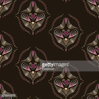 Seamless art deco modern pattern graphic ornament