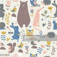 seamlessnavyforestanimals