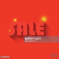 Sale illustration with light and background. Vector