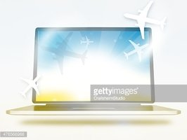 Booking Planes Laptop Summer Colors