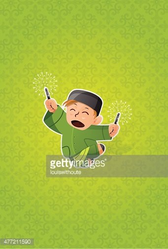 Boy Celebrating Hari Raya Aidilfitri Clipart Images