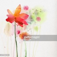 Bouquet,Watercolor Paints,P...