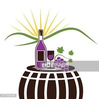 vector illustration of wine bottle,wineglass and grape