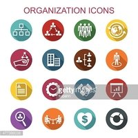 organization long shadow icons