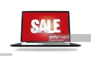 Bold Sale Font red laptop screen illustration