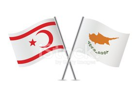 Cyprus and Northern Cyprus flags. Vector.