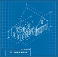 House,Blueprint,Isometric,D...