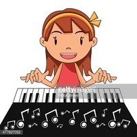 Girl Playing Piano stock vectors - Clipart.me
