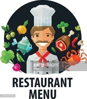 menu, restaurant vector logo design template. chef, food or cooking