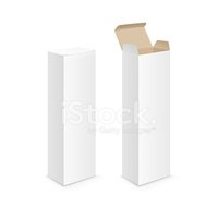 Vector White Blank Packaging Package Pack Toothpaste Box Design Template Clipart Images