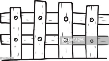 how to draw a bee wooden fence stock vectors clipart me 6773