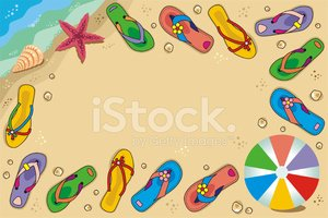Beach,Flip-flop,Cartoon,Fra...