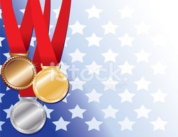 Medal,American Flag,Gold Co...