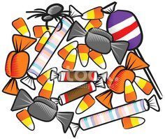 Candy,Halloween,Vector,Bag,...