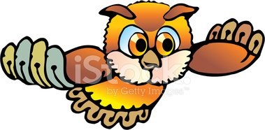 Owl,Cartoon,Flying,Eagle Ow...