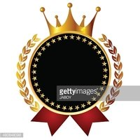 Medal frame icon crown