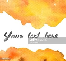 Copy space between Brown orange yellow water color background