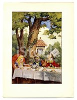 Tea Party Illustration, (alice's Adventures IN Wonderland) stock ...