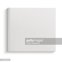 Blank hardcover album template