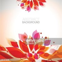 Abstract hot colors decorative autumn frame