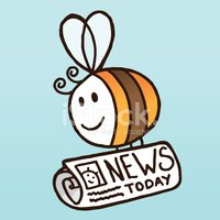 Bee,Newspaper,Insect,Cute,B...