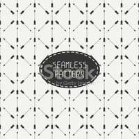 Geometric hipster line seamless pattern with vintage arrows. Wrapping paper.