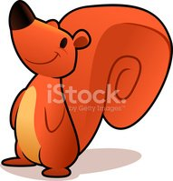 Squirrel,Cartoon,Animal,Vec...