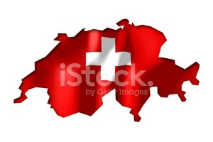 Switzerland - map and flag clip-art