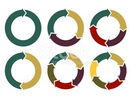 vector circle arrows for infographic