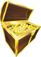 Treasure Chest,Trunk,Gold C...