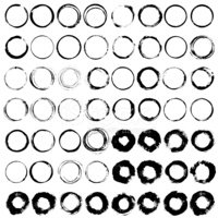 Vector set of Black silhouette Wine stain circles,