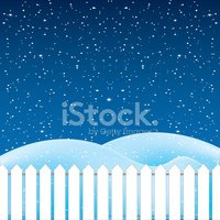 Vector of winter scene, white snow and blue sky.