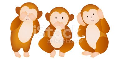 Monkey three wise monkeys greeting cards stock vectors clipart monkey three wise monkeys greeting cards m4hsunfo