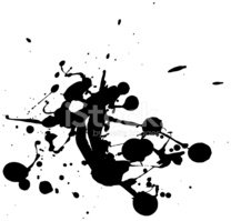 Paint,Splattered,Ink,Drop,B...