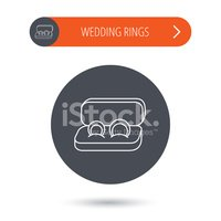 Wedding rings icon. Jewelry sign.