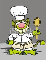 Monster,Chef,Cartoon,Hat,Co...