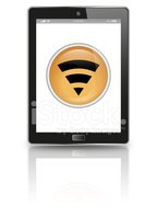 Modern tablet illustration with wifi icon