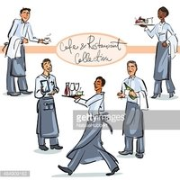 Cafe and Restaurant Collection - hand drawn scenes . Set 1