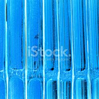 bright blue art repetitive line