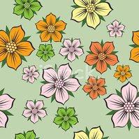 Seamless,Flower,Pattern,Bac...